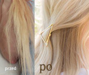 nanoil test olejku do włosów przed i po kuracji
