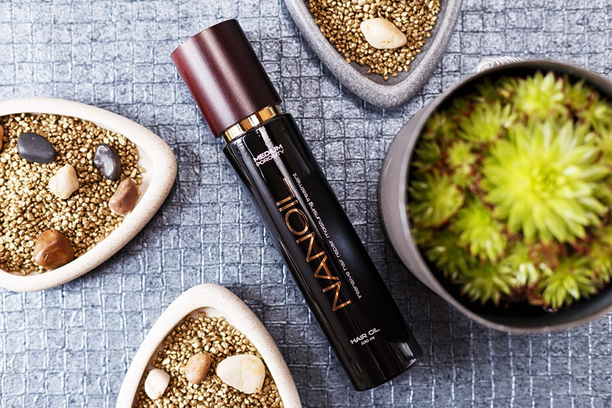 test olejku nanoil do włosów